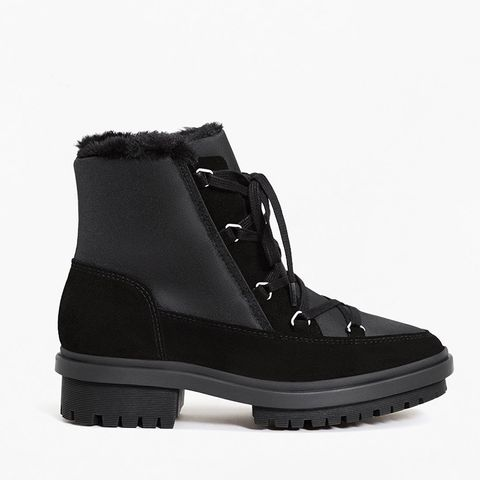 Track Sole Contrast Ankle Boot