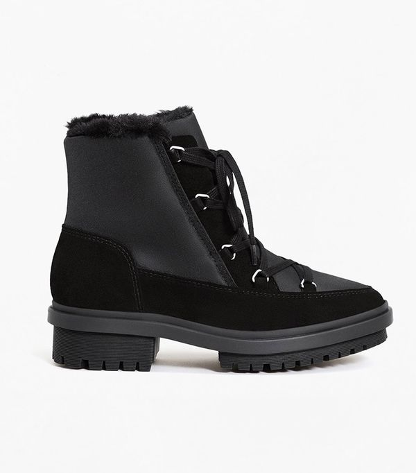 Track sole contrast ankle boots