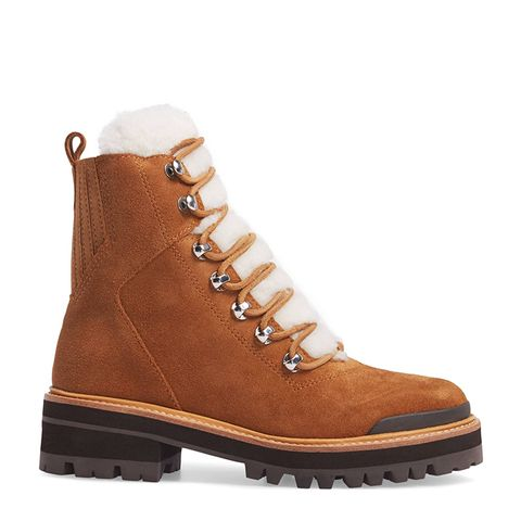 Izzie Genuine Shearling Lace-Up Boot