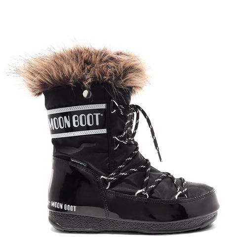 Monaco Faux Fur–Trimmed Shell-Piqué and Faux-Leather Snow Boots