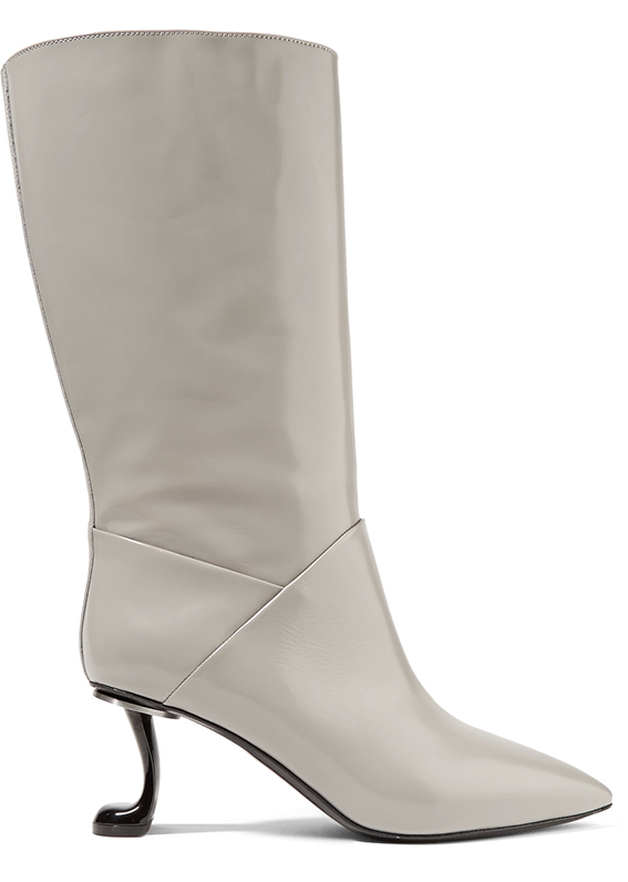 Glossed-leather Boots