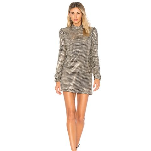 Zulema Dress in Metallic Gold
