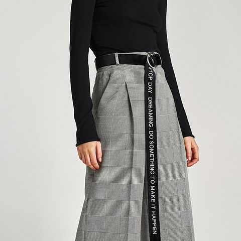 Extra Long Belt With Slogan