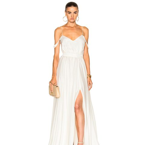 Morgan V-Neck Empire Gown