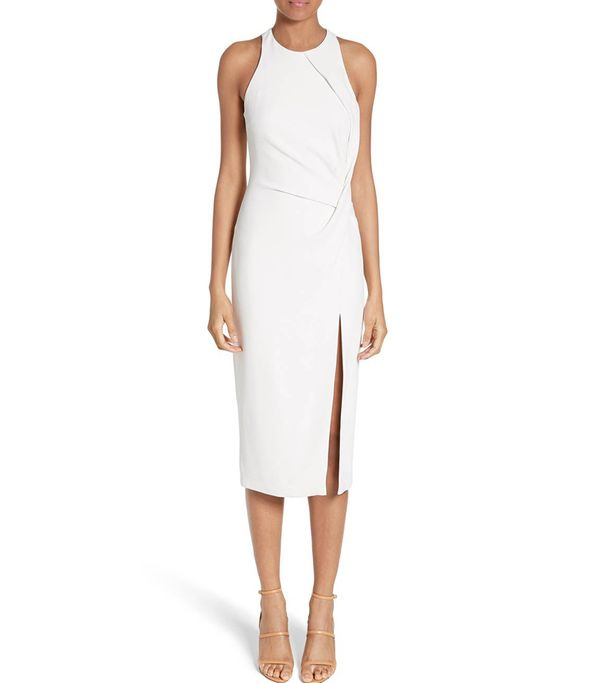 Women's Cushnie Et Ochs Devon Crossover Detail Stretch Cady Dress
