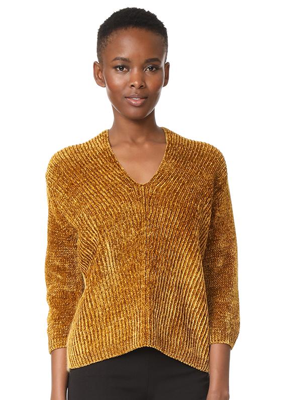 English Knit V Neck Sweater