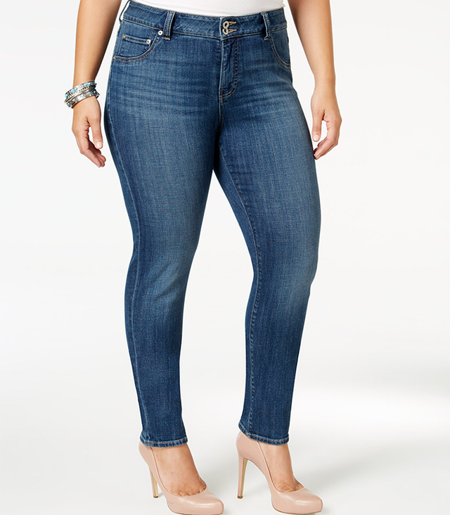 Trendy Plus Size Emma Straight-Leg Jeans