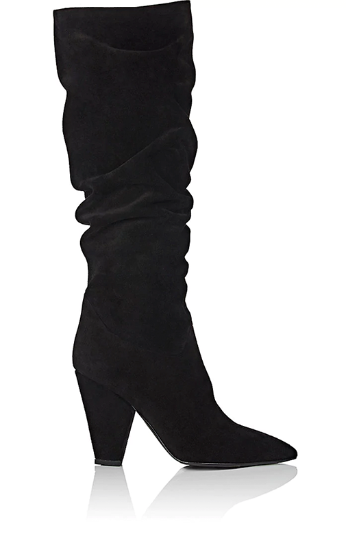 Women's Suede Slouchy Knee Boots