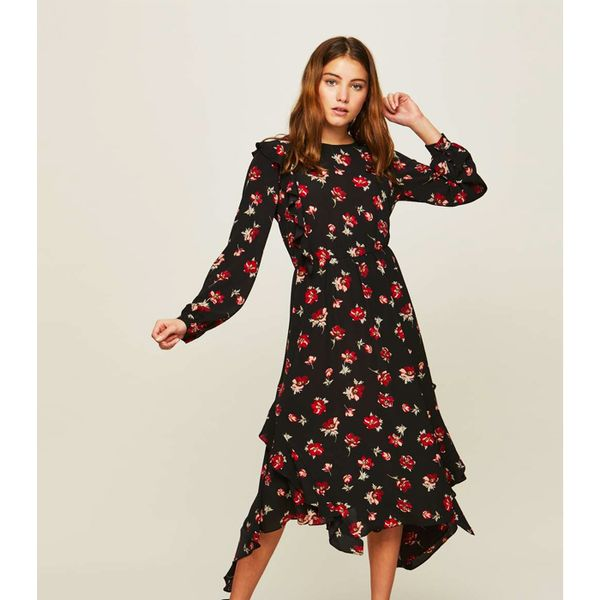 Miss selfridge long sleeve black dress