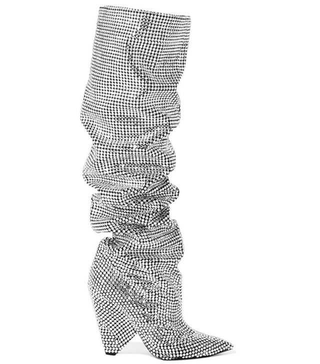 Saint Laurent crystal boots