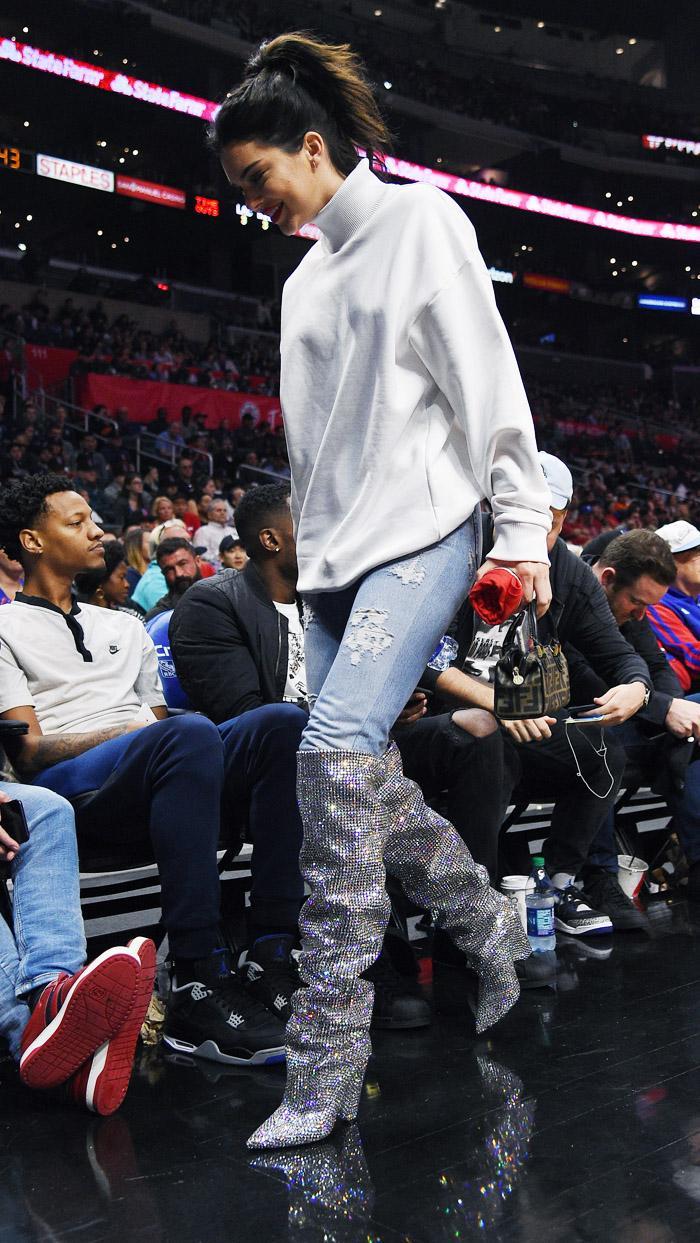 Kendall Jenner Saint Laurent boots