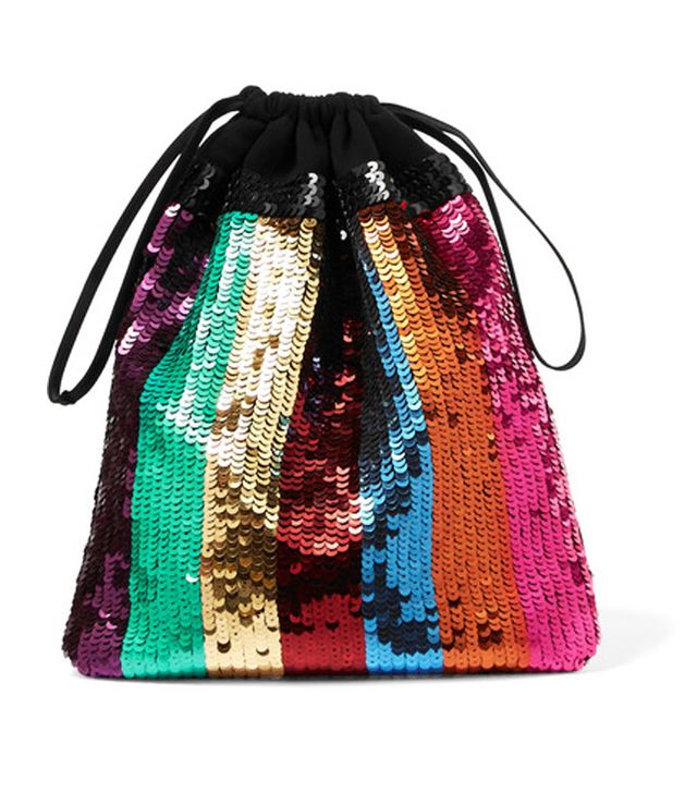 Best rainbow sequins: Attico pouch bag