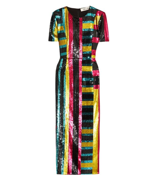 Best rainbow sequins: DVF dress