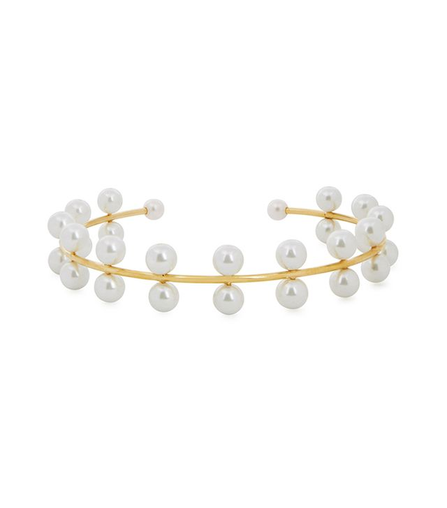 Best bridal hair accessories: Aura Headpieces Pearl Haven 24kt gold-dipped headpiece