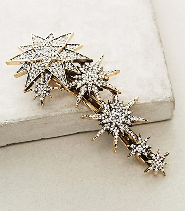 Best bridal hair accessories: Anthropologie String of Stars Barrette