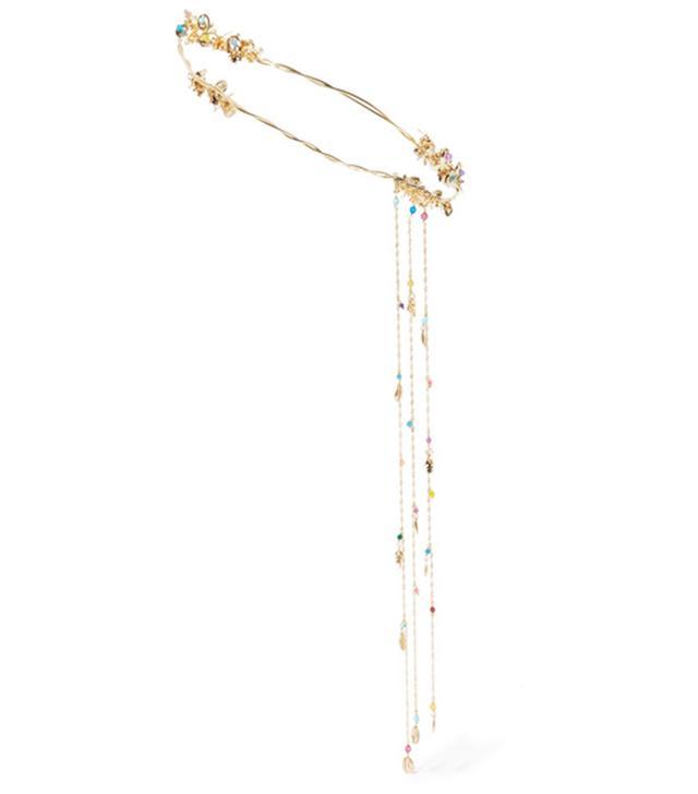 Best bridal hair accessories: Tortuga gold-plated quartz headpiece