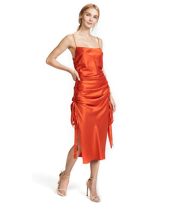 Ruche Slip Dress