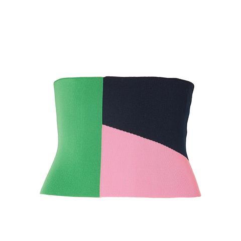 Color-Block Stretch-Knit Corset