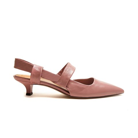 Coco Twist Leather Sling-Back Pumps