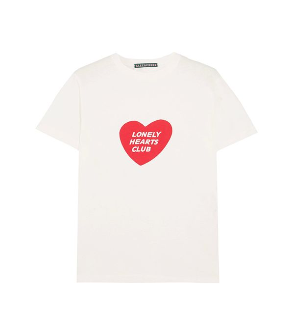 Lonely Hearts Club Printed Cotton-jersey T-shirt