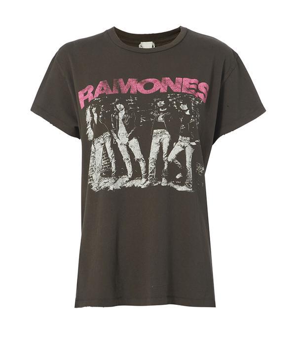 Madeworn Ramones Pink Classic Tee Black S