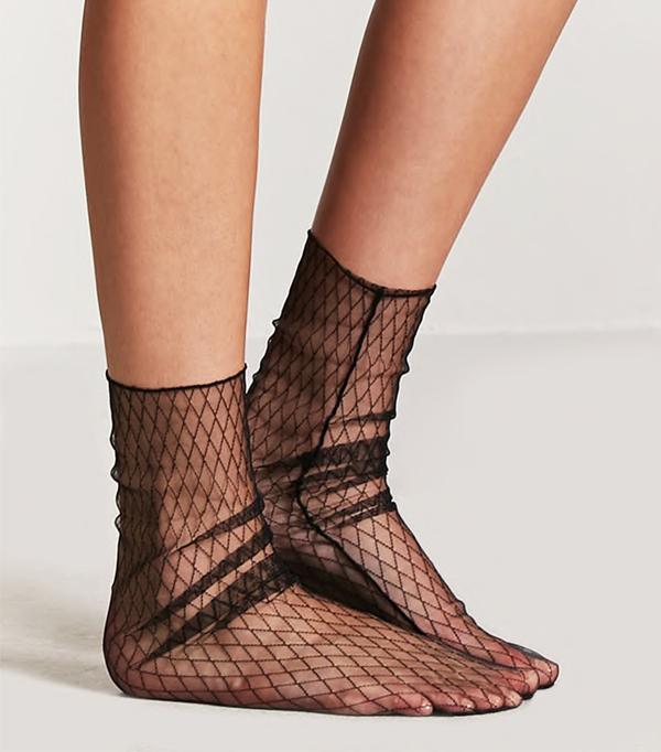 Sheer Mesh Fishnet Socks
