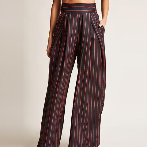 Wide-Leg Stripe Pants