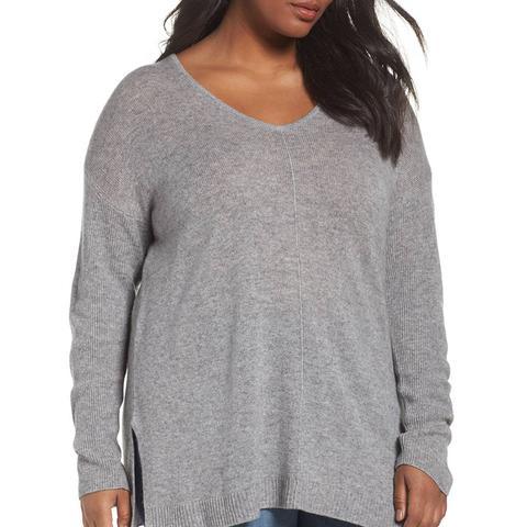 Easy V-Neck Wool & Cashmere Pullover