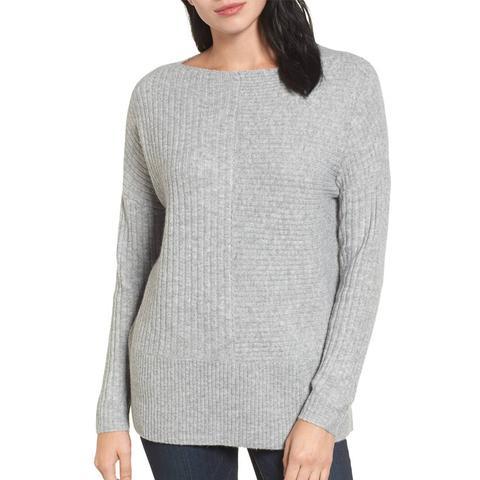 Multi Ribbed Fleece Knit Sweater