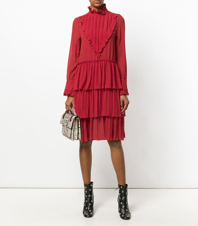 See by Chloé Micro Knife Pleated Dress