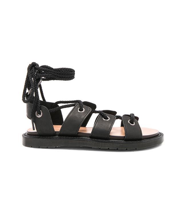 Jasmine Ghillie Sandal in Black. - size 9 (also in 10)