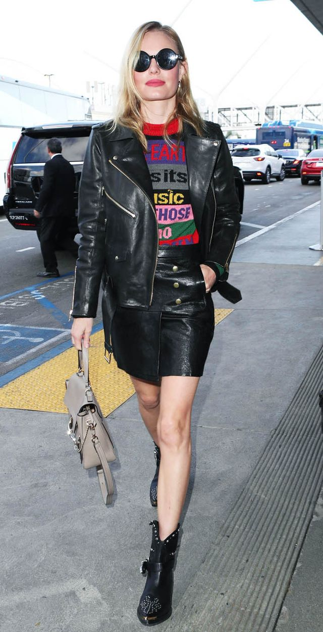 Kate Bosworth leather suit: