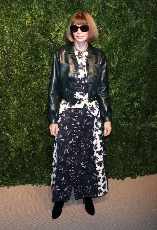 WHO: Anna Wintour WEAR:Proenza Schouler S/S 18 dress