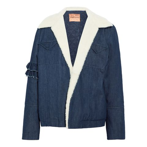 Made for Greatness Shearling Denim Jacket