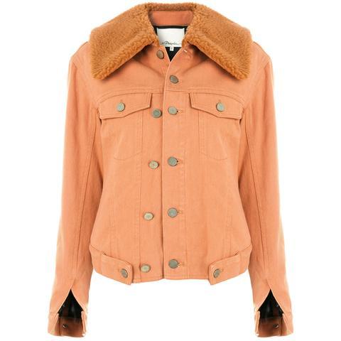 Sherpa-Lined Denim Jacket