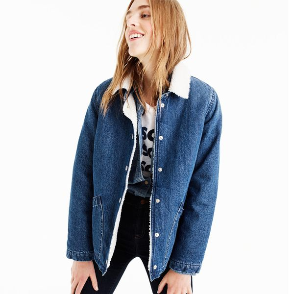 16 Sherpa Lined Denim Jackets To Cosy Up In Whowhatwear Uk
