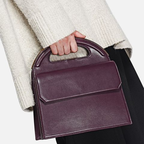 Burgundy Top Handle Bag