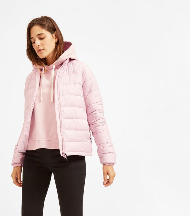 Everlane The Lightweight Puffer Jacket in Rose