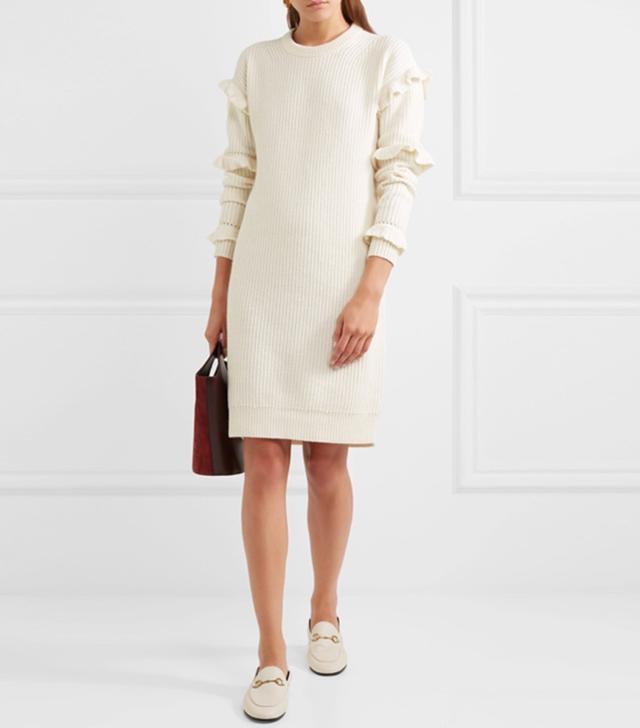 Michael Michael Kors Ruffled Knitted Dress