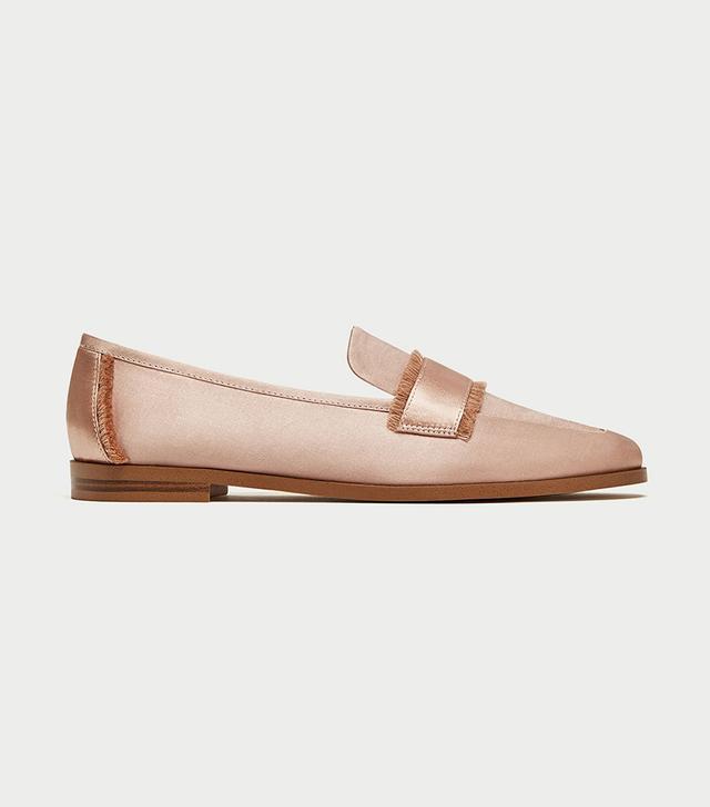 Zara Frayed Loafers