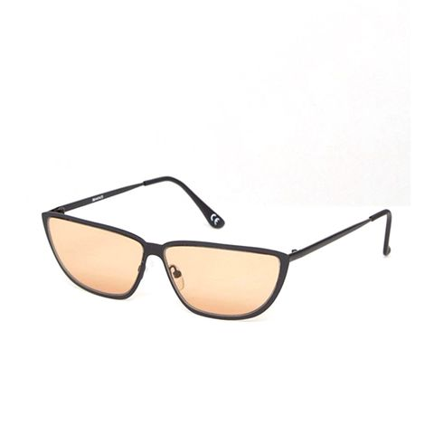 '80s Small Metal Cat With Light Brown Lens