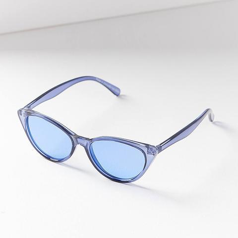 Slim Retro Cat-Eye Sunglasses