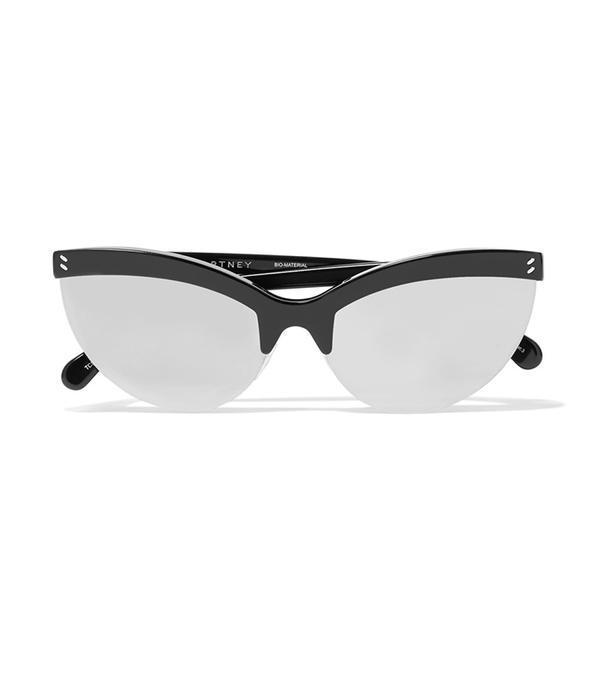 Cat-eye Acetate Mirrored Sunglasses