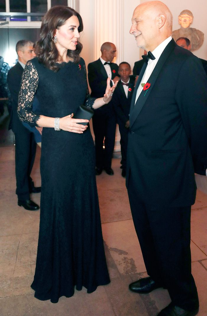 Kate Middleton pregnancy outfit Kensington Palace gala