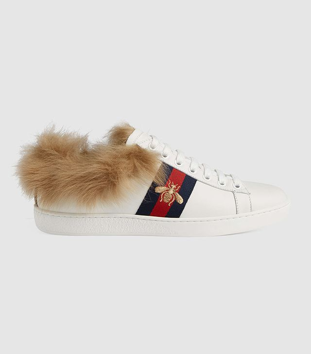 Ace sneaker with fur