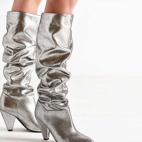 Tess Glitter Scrunch Knee-High Boot