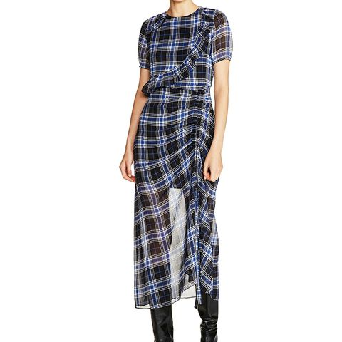 Check Plaid Midi Dress