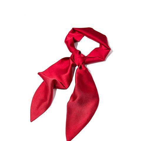 Silky Wrap Neck Tie Scarf