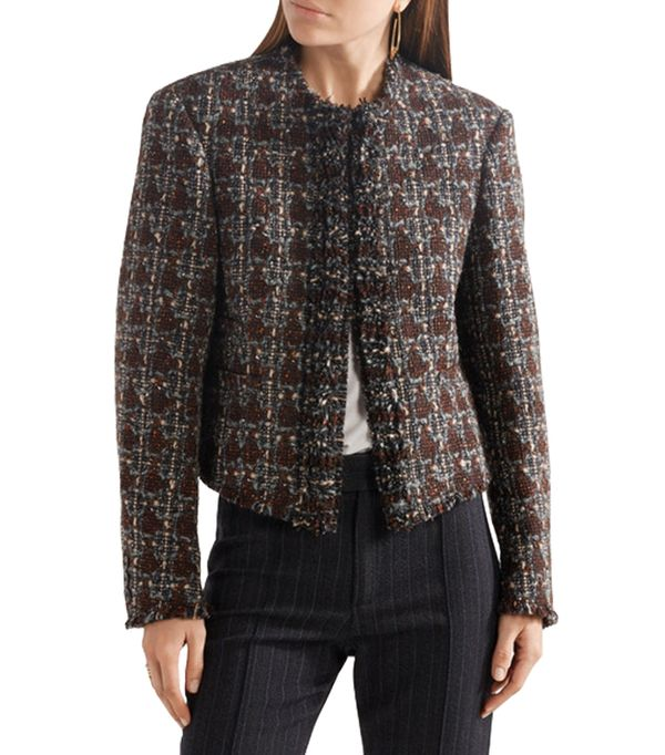 Fania Cropped Wool-blend Tweed Jacket