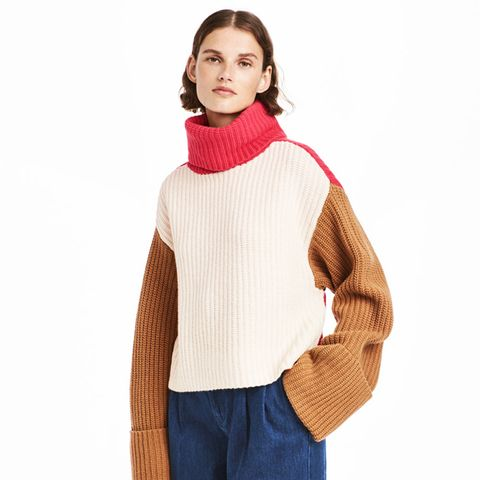 Wide-Cut Turtleneck Sweater